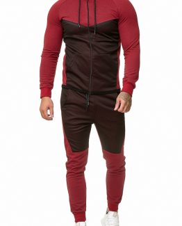 SWEAT SUIT MAN- RED 52008-2