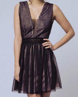 SOKY SOKA  DRESS BLACK 56005-3