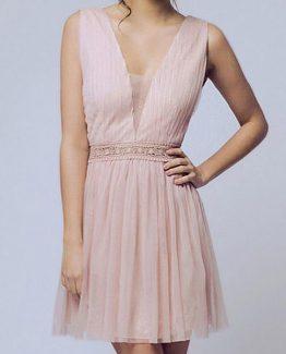 SOKY SOKA  DRESS NUDE 56005-1