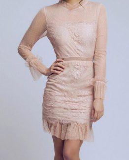 SOKY SOKA  DRESS NUDE 56004-2