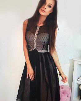 SOKY SOKA  DRESS BLACK 56007-1