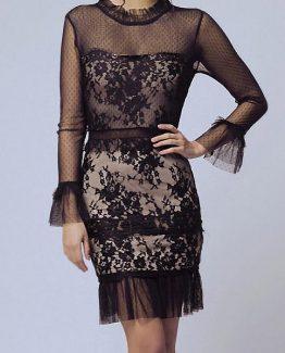 SOKY SOKA  DRESS BLACK 56004-1