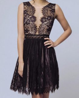 SOKY SOKA  DRESS BLACK 56006-1