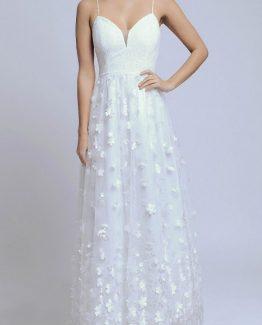 SOKY SOKA  DRESS BEIGE 56002-1
