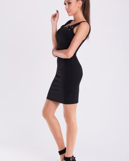 EMAMODA DRESS – BLACK 19007-1 Size L